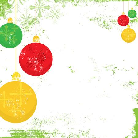 Christmas ornament achtergrond Stock Illustratie