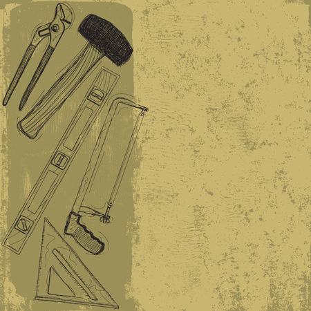 hand tool: Hand tool sketches Illustration