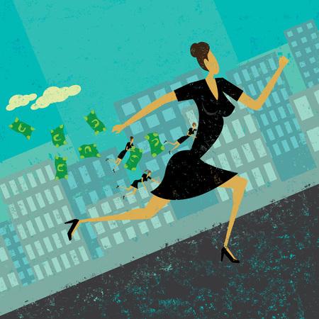 woman holding money: Strategic Business Alliance