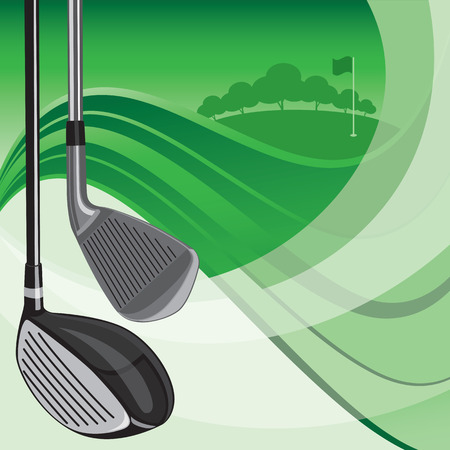golf club: Golf Club Background Illustration