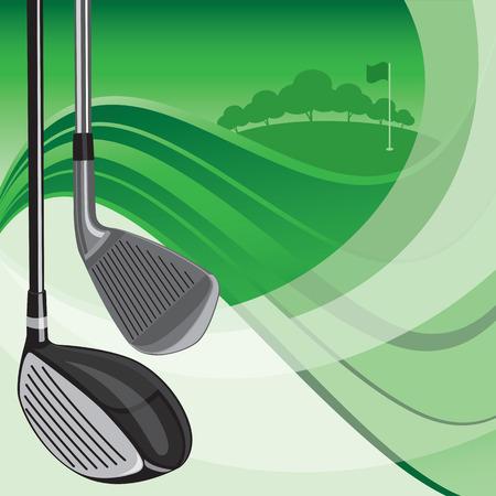 computer club: Golf Club Background Illustration