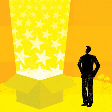 gift of hope: Starry gift box Illustration