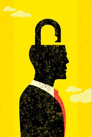unlocking: Unlocking the mind Illustration