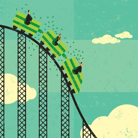 Roller coaster economy Illustration