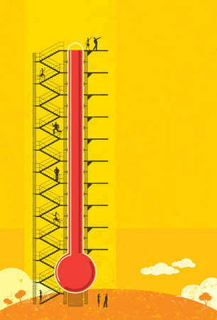 fundraiser: Thermometer Fundraiser Illustration