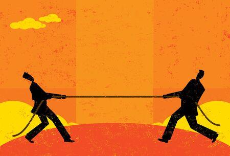conflicto: Tir�n de la guerra Vectores