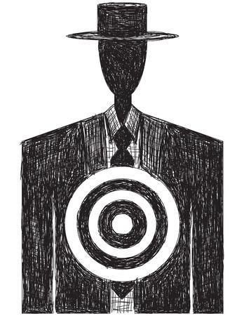 bull pen: Target on Chest sketch