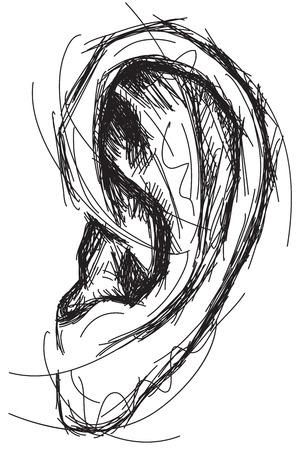listening ear: Sketchy ear