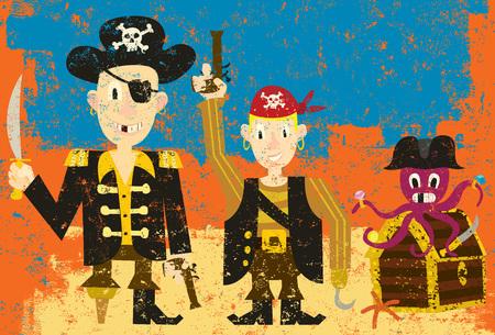 costume eye patch: Three Pirates