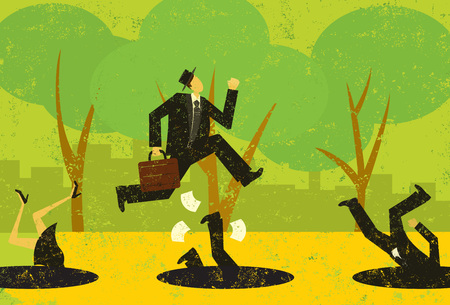 avoiding: Avoiding Business Pitfalls Illustration