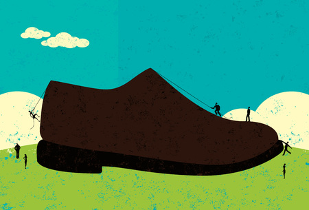 corporate ladder: Having big shoes to fill Illustration