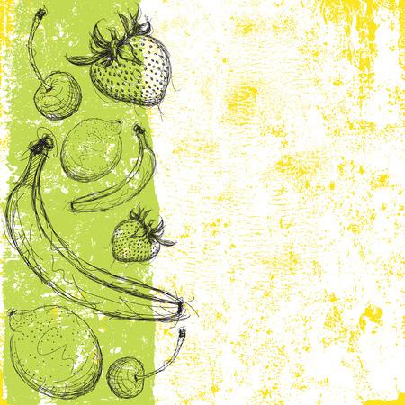 fruit background: Fruit background Illustration