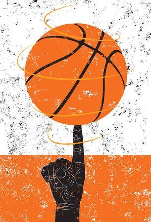 バスケット ボールの回転  イラスト・ベクター素材