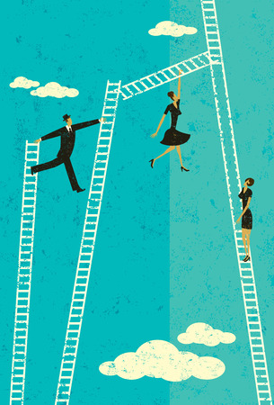 climbing ladder: Ladder of Success