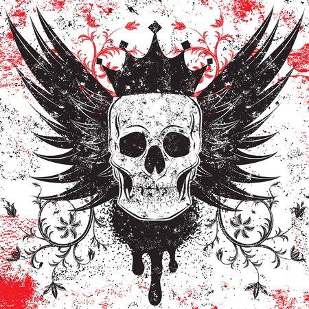 Skull insignia Ilustração