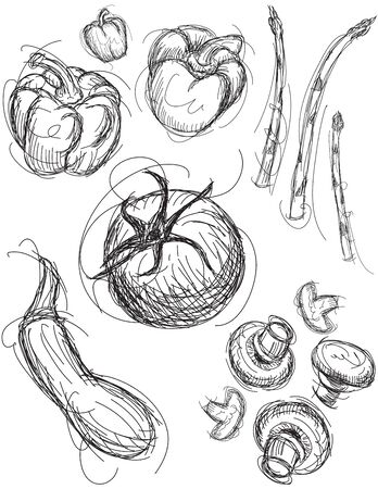 medley: Vegetable Medley Illustration