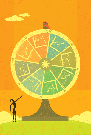 fortune: Financial Fortune Wheel Illustration