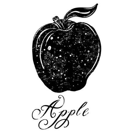 textured: Apple A textured apple icon.