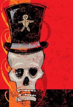 voodoo: Voodoo man skull Illustration