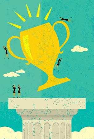 business team: Business Team Success Illustration