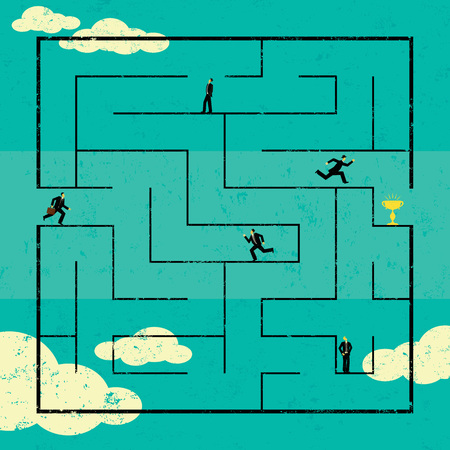 finding: Finding the Path to Success Illustration