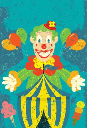 payaso de circo Ilustración de vector