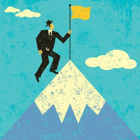 mountaintop: Planting a Flag on the Mountain