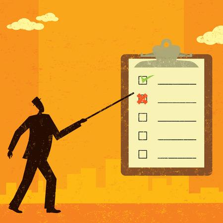 Examining a checklist Ilustracja