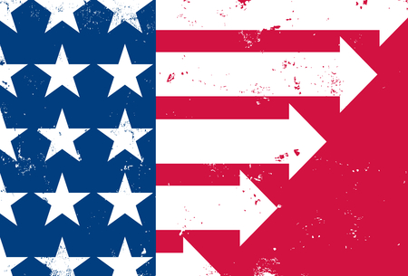 red america: America Moving Forward Illustration
