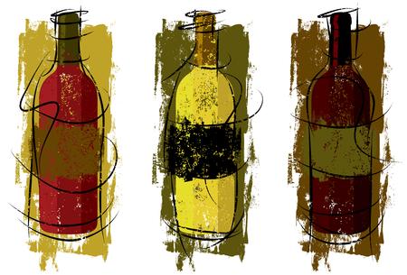 clip art wine: Artist Wine Bottles