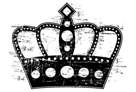 woodcut: Woodcut Style Crown Illustration