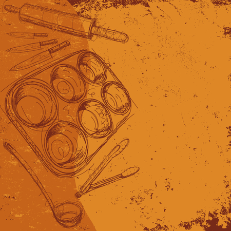 Kitchen Utensil Background Illustration
