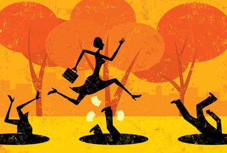 Avoiding Business Pitfalls Stock Illustratie