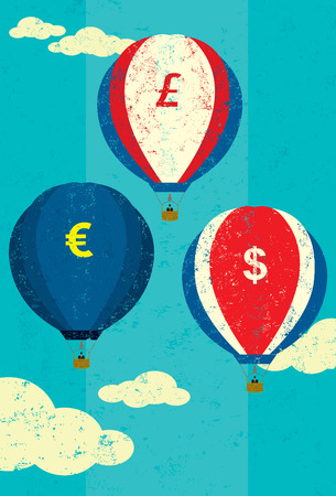 fluctuation: Currency Fluctuations Illustration