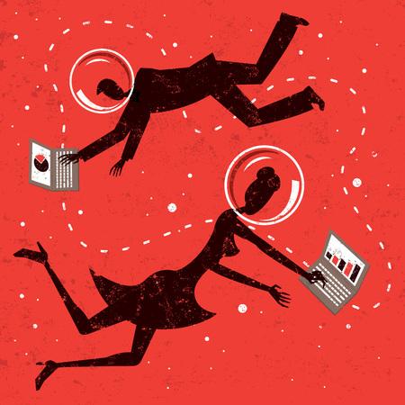 internet business: Internet business partners Illustration