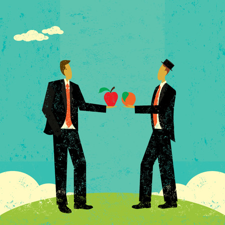 Comparing Apples and Oranges Ilustrace