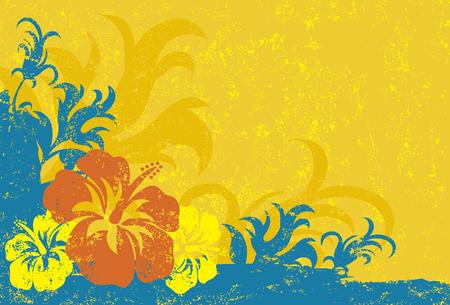 Hibiscus Texture Background