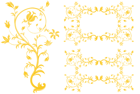 Golden Florals