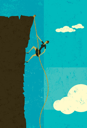 conquer adversity: Climber Illustration