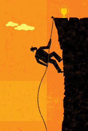 conquer adversity: Climbing to Victory Illustration