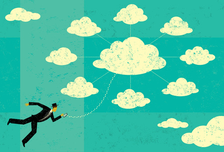 remote server: Cloud Computing Illustration