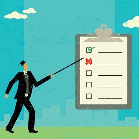 checklist: Examining a checklist Illustration