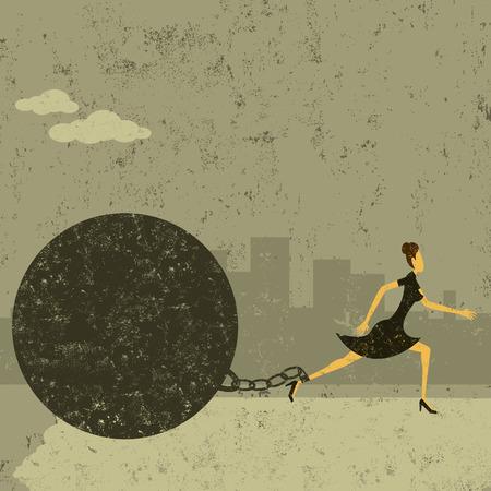ボールとチェーン  イラスト・ベクター素材