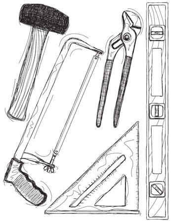 Hand Tool Sketches Stock fotó - 65431413