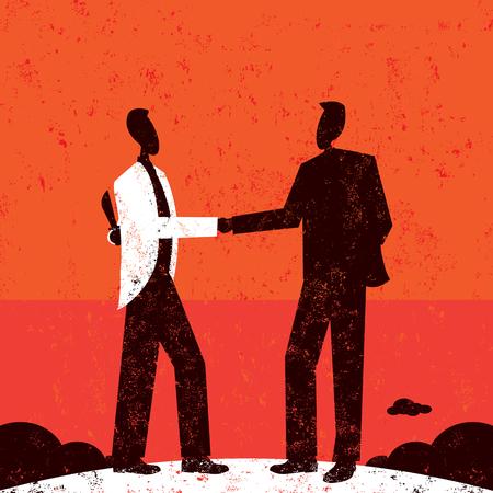 El hombre de negocios engañosa Ilustración de vector