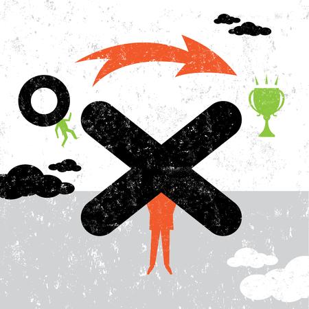Obstacle Overcomer Stock Illustratie