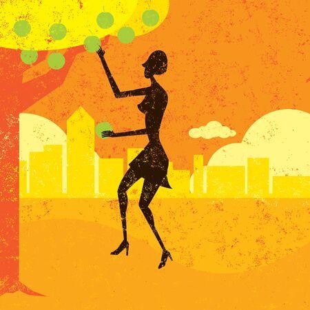 picking: Picking the low hanging fruit Illustration