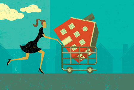Comprar una casa Foto de archivo - 66991790