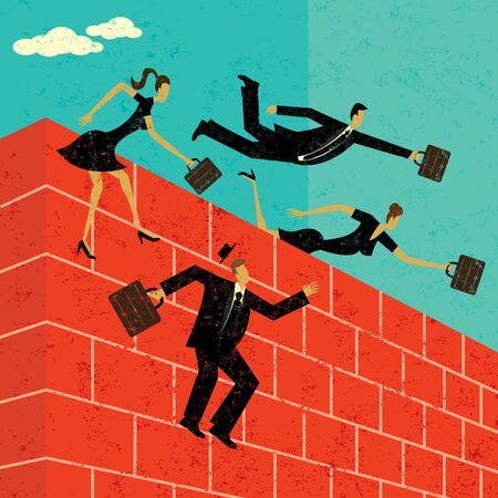 Jumping over a brick wall