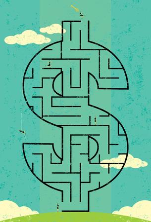Key to Wealth Maze 向量圖像